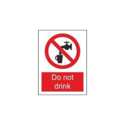 Do Not Drink Label 75x100mm Self Adhesive Code PS14SA