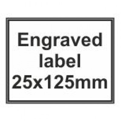 Engraved Traffolyte Label 25x125mm