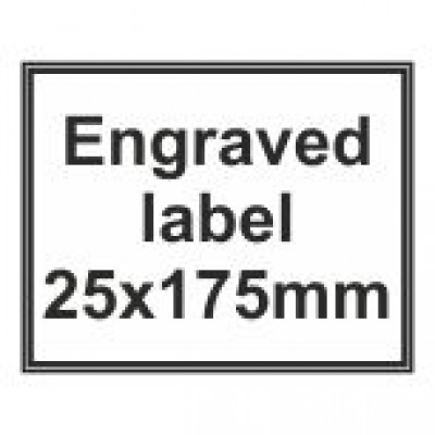 Engraved Traffolyte Label 25x175mm