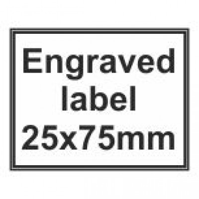 Engraved Traffolyte Label 25x75mm