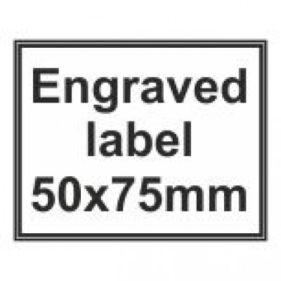Engraved Traffolyte Label 50x75mm