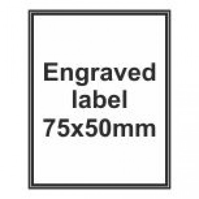 Engraved Traffolyte Label 75x50mm