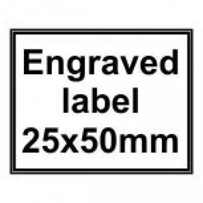 Engraved Traffolyte Label 25x50mm