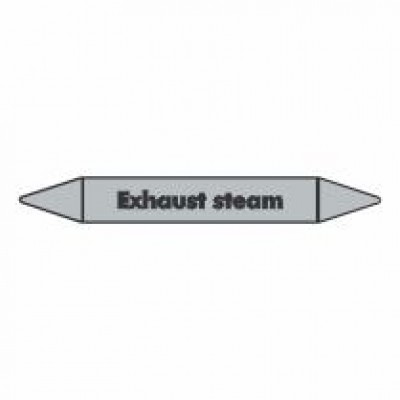 Exhaust Steam Pipe Marker self adhesive vinyl code PMS01a