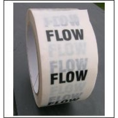 Flow Pipe Identification Tape (White) ID101T50W