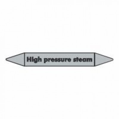 High Pressure Steam Pipe Marker self adhesive code PMS04a