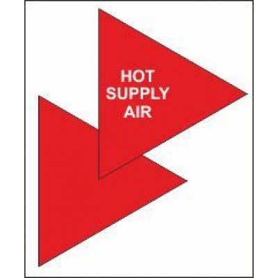 Hot Supply Air Triangle for Air Conditioning Ductwork AC007