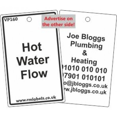 Hot Water Flow Label Code VP160