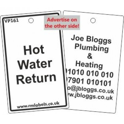 Hot Water Return Label Code VP161