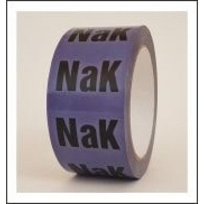 NaK Pipe Identification Tape ID515T50V for Sodium Potassium Alloy