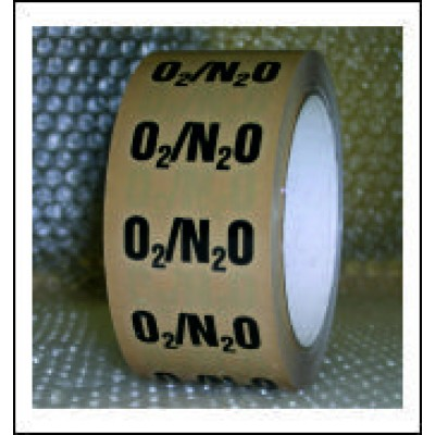 Oxygen and Nitrous Oxide Mixture Pipe Identification Tape ID222T50YO