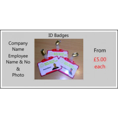 ID Badges with Holder & Clip Code ID001