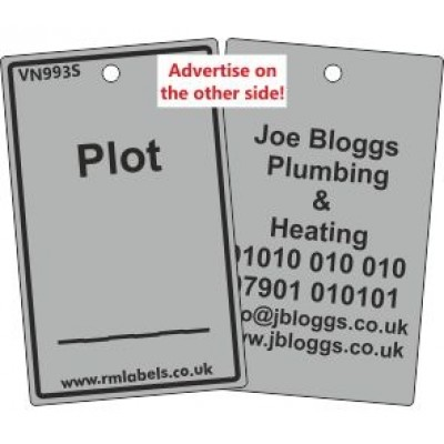 Plot Label in grey and your details on reverse Code VN993SA