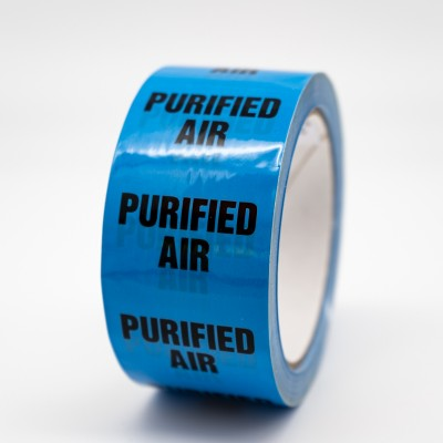 Purified Air Pipe Identification Tape - R M Labels - ID174T50LB