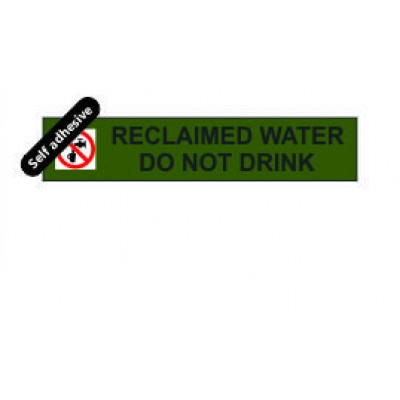 Reclaimed Water label 125x25mm Self Adhesive Code RW02SA