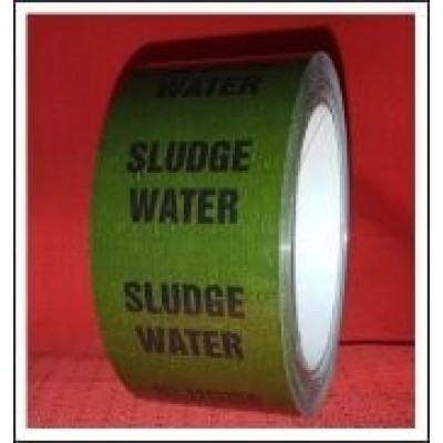 Sludge Water Pipe Identification Tape ID292T50G
