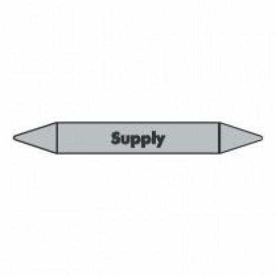 Supply Pipe Marker for steam self adhesive vinyl code PMS15a