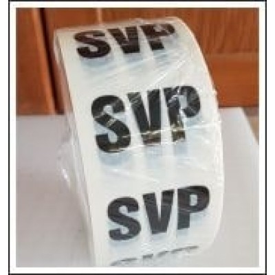 SVP (Soil Vent Pipe) Pipe Identification Tape code ID390T50W