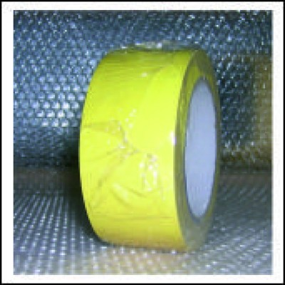 Traffic Yellow External Pipe Identification Tape 50mm wide RAL 1023 Code EXD251C50