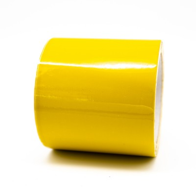 Yellow Pipe Identification Tape 100mm wide 08-E-51 - R M Labels - ID308C100