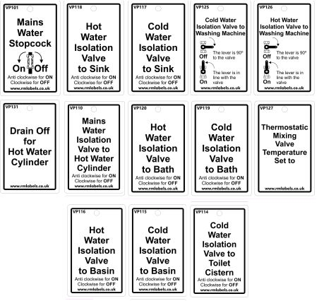 Hot and Cold Water Services Tags